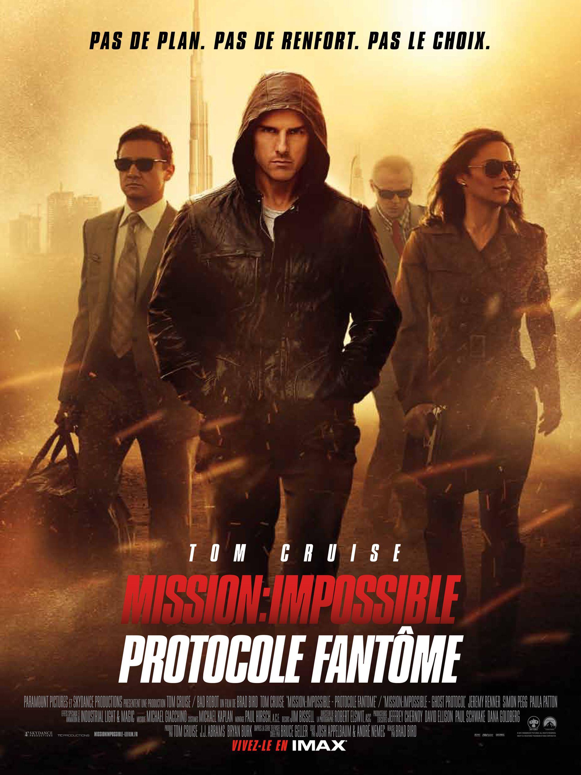affiche du film Mission : Impossible - Protocole fantôme