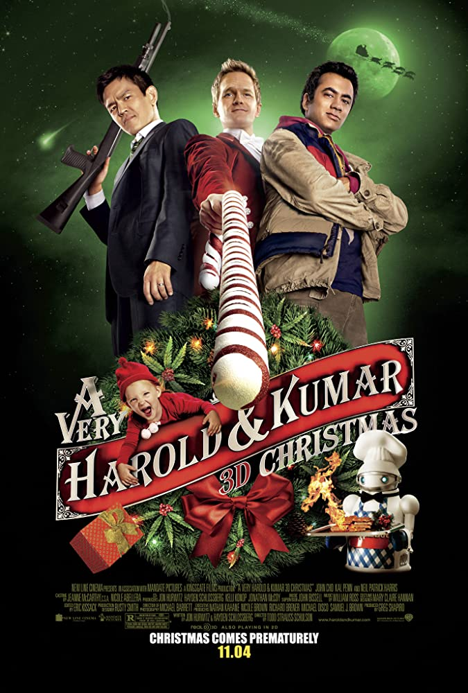affiche du film Le Joyeux Noël d'Harold et Kumar