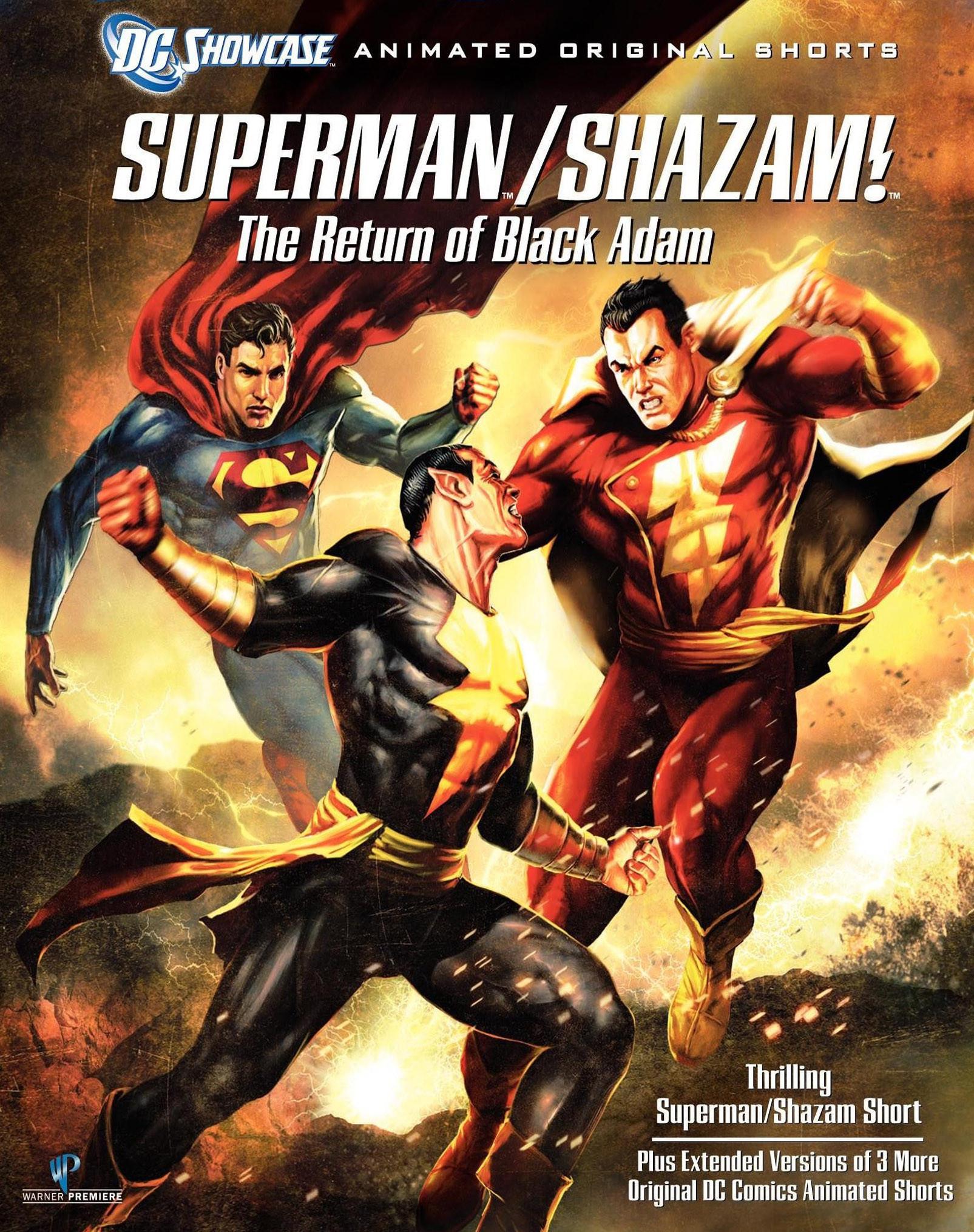 affiche du film Superman/Shazam : Le retour de Black Adam