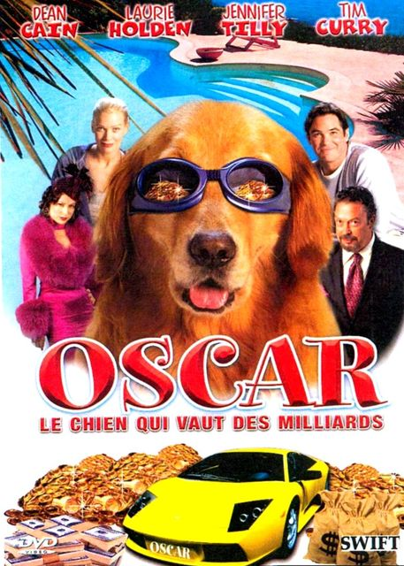 affiche du film Oscar, le chien qui vaut des milliards