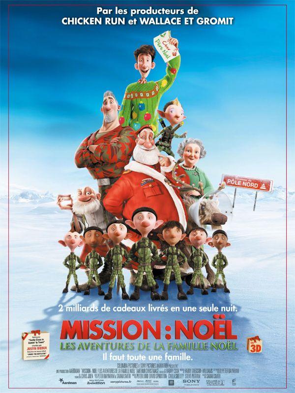 affiche du film Mission : Noël, Les Aventures de la famille Noël