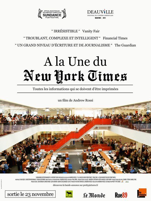 affiche du film A la une du New York Times