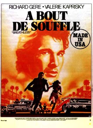 affiche du film A bout de souffle made in USA