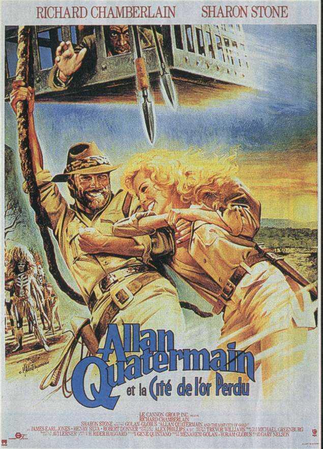 affiche du film Allan Quatermain et la cité de l'or perdu