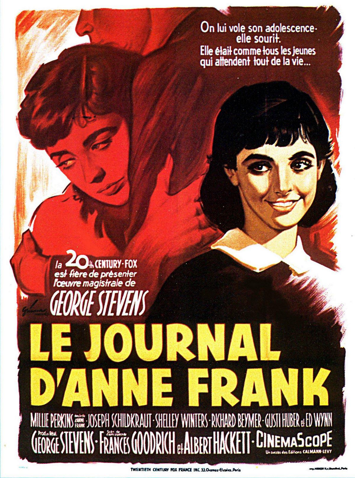 affiche du film Le journal d'Anne Frank (1959)