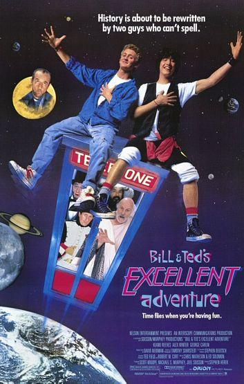 affiche du film L'excellente aventure de Bill et Ted