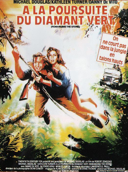 affiche du film À la poursuite du diamant vert