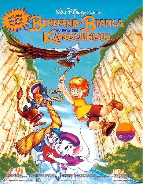 affiche du film Bernard et Bianca au pays des kangourous
