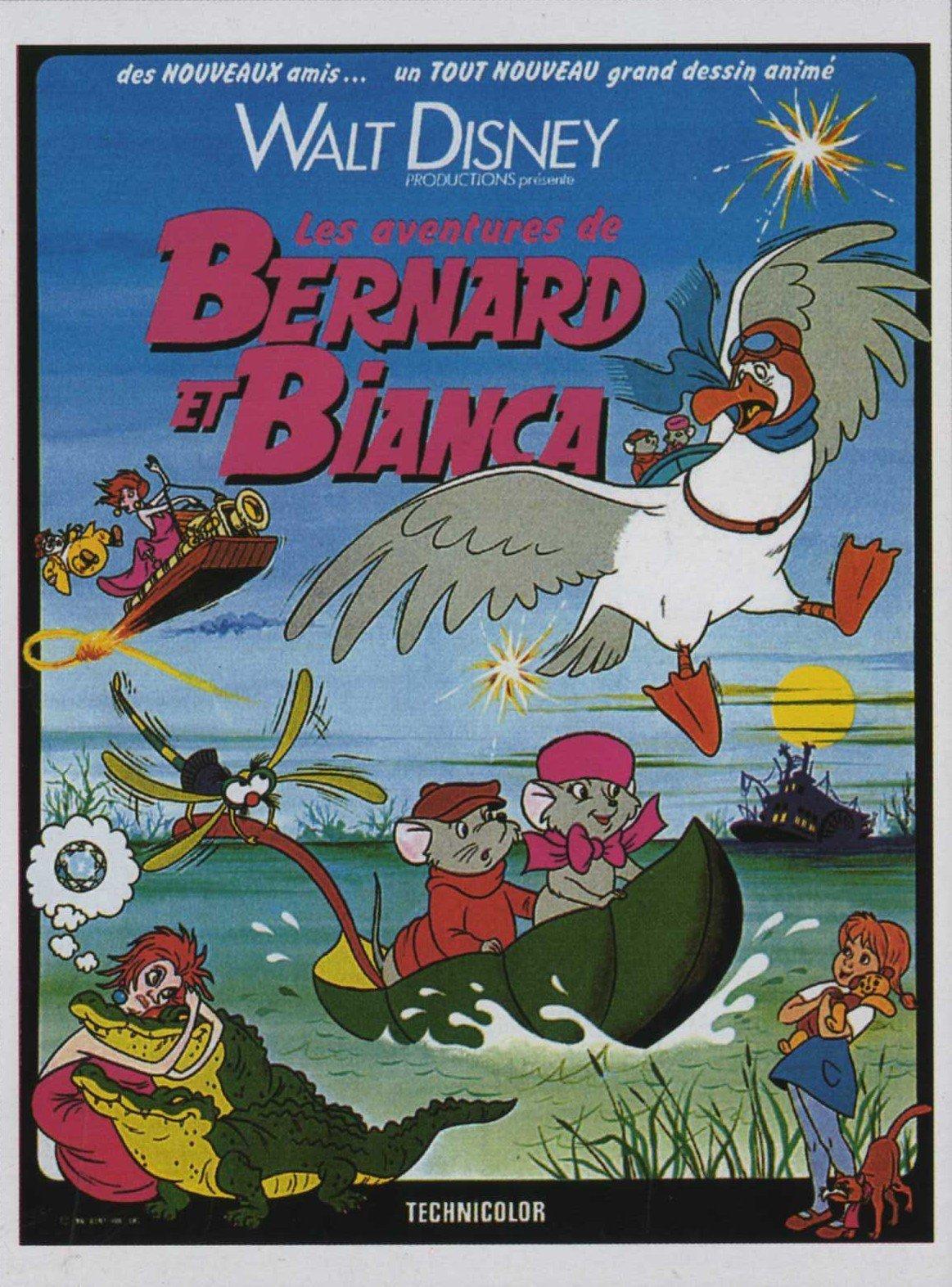 affiche du film Les Aventures de Bernard et Bianca
