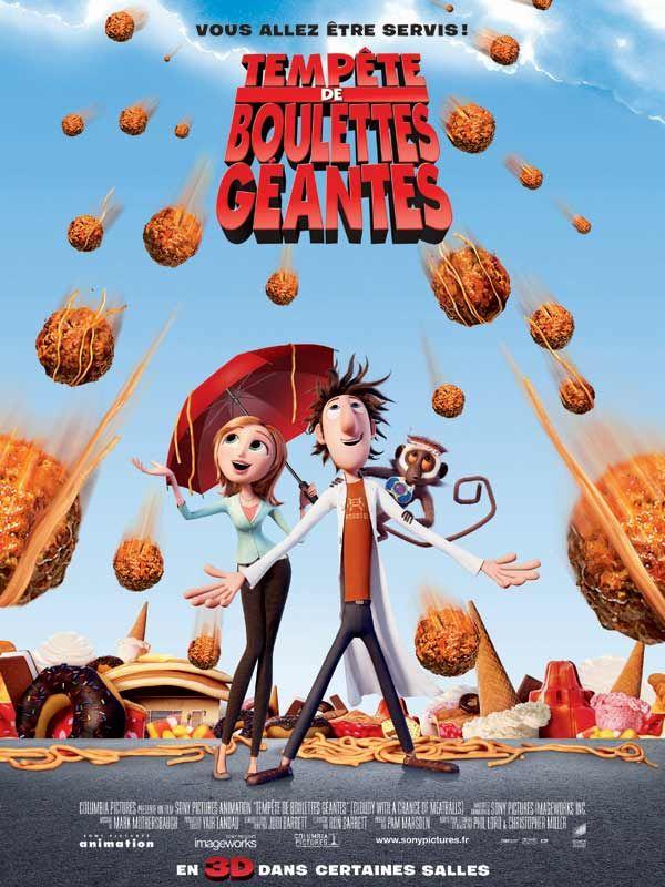 affiche du film Tempête de boulettes géantes