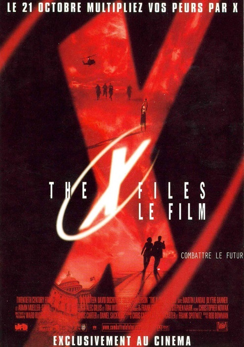 affiche du film X-files, le film