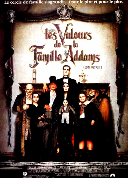 affiche du film Les valeurs de la famille Addams