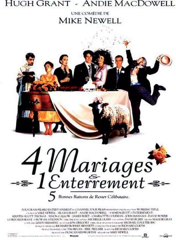 affiche du film 4 mariages et 1 enterrement