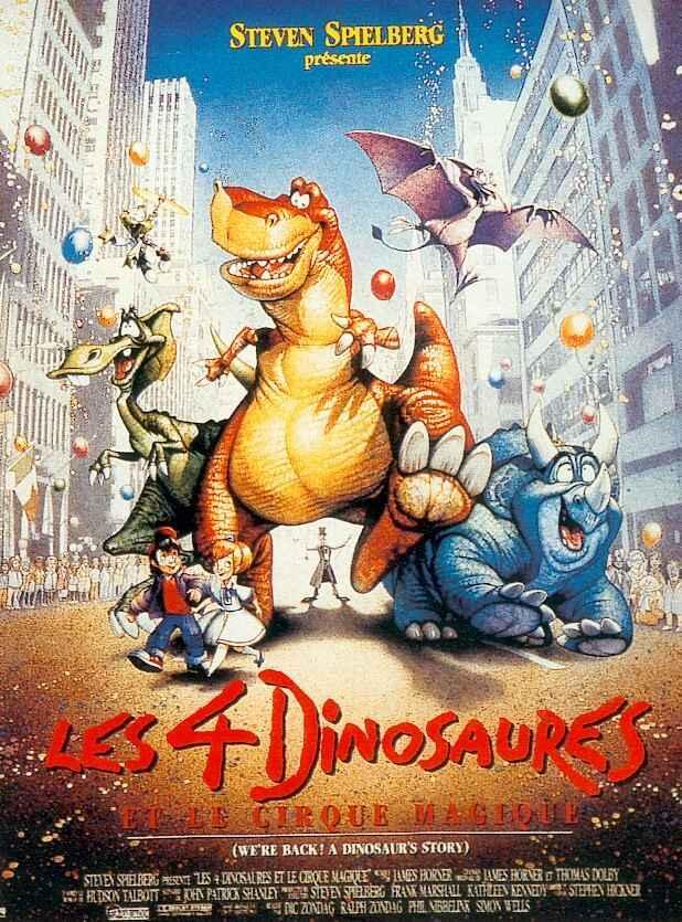 affiche du film Les 4 dinosaures et le cirque magique