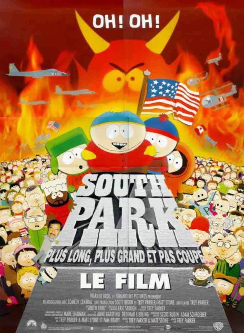 affiche du film South Park, le film : Plus long, plus grand et pas coupé
