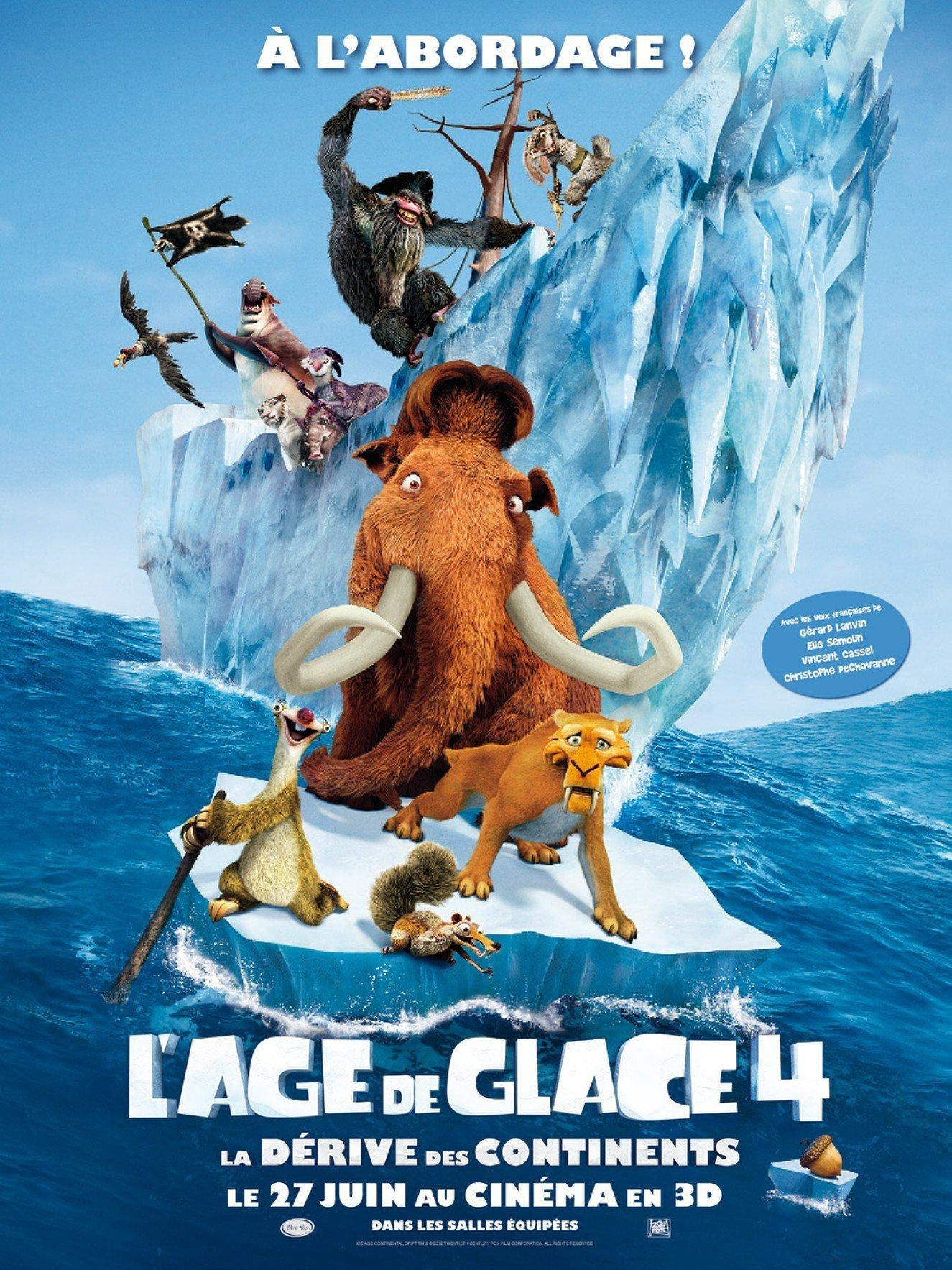 affiche du film L'âge de glace 4 : La dérive des continents