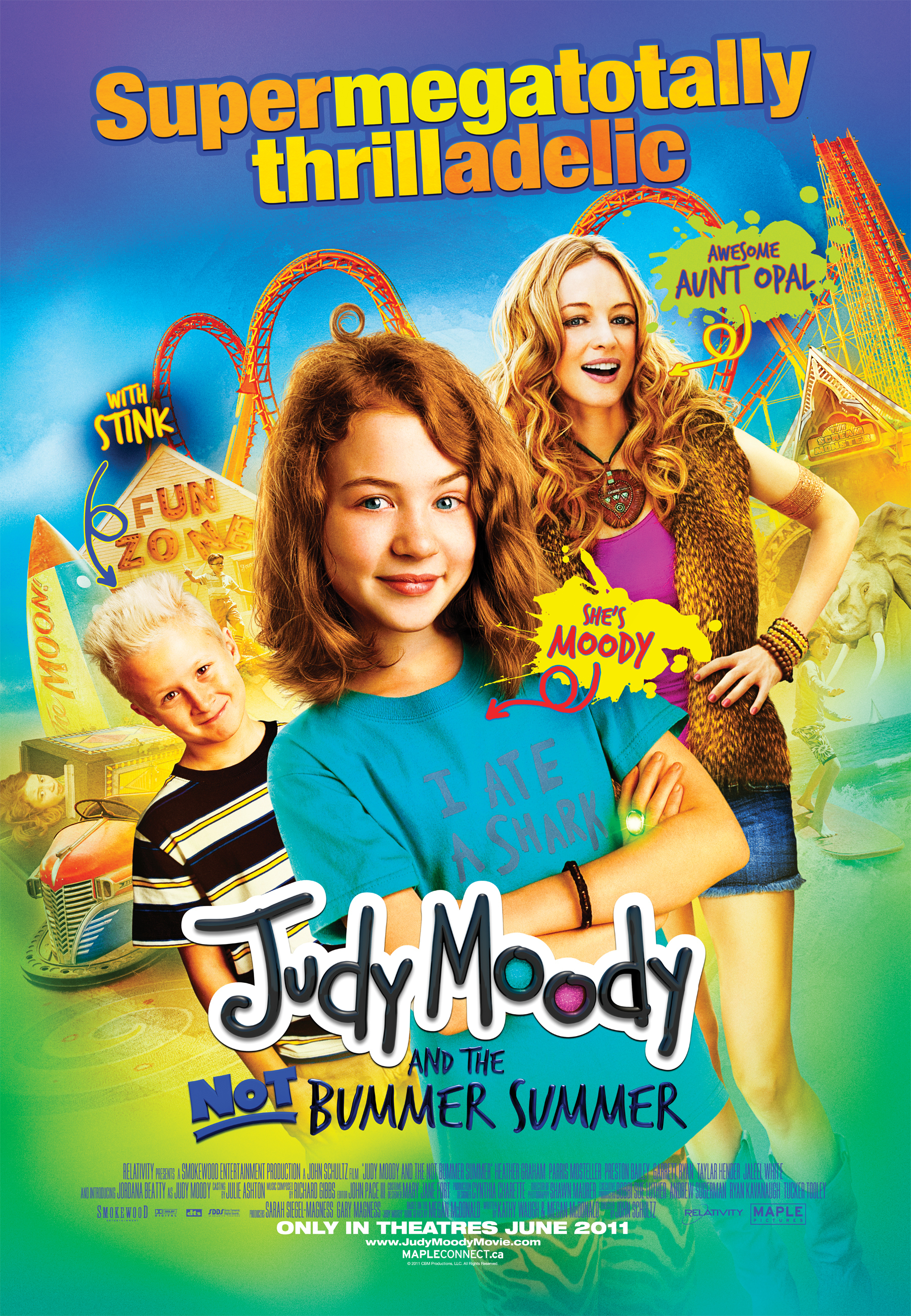 affiche du film Judy Moody and the Not Bummer Summer