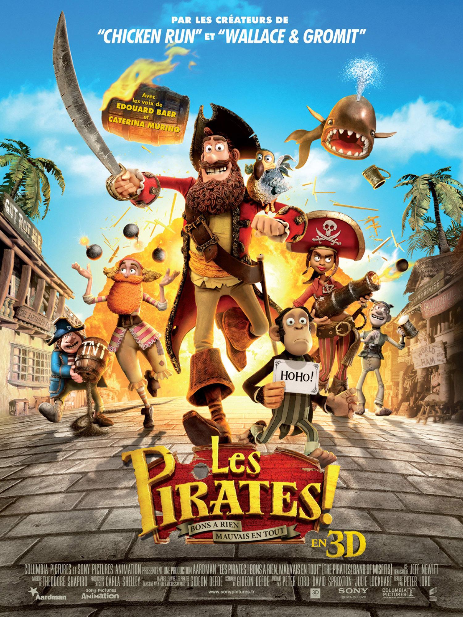 affiche du film Les Pirates! Bons à rien, mauvais en tout