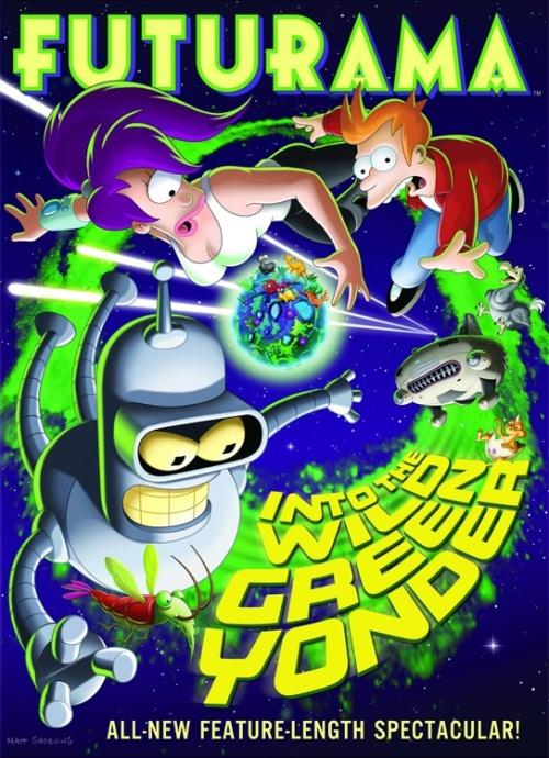 affiche du film Futurama : Vous prendrez bien un dernier vert ?