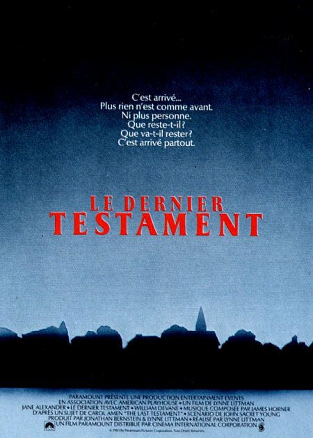 affiche du film Le dernier testament