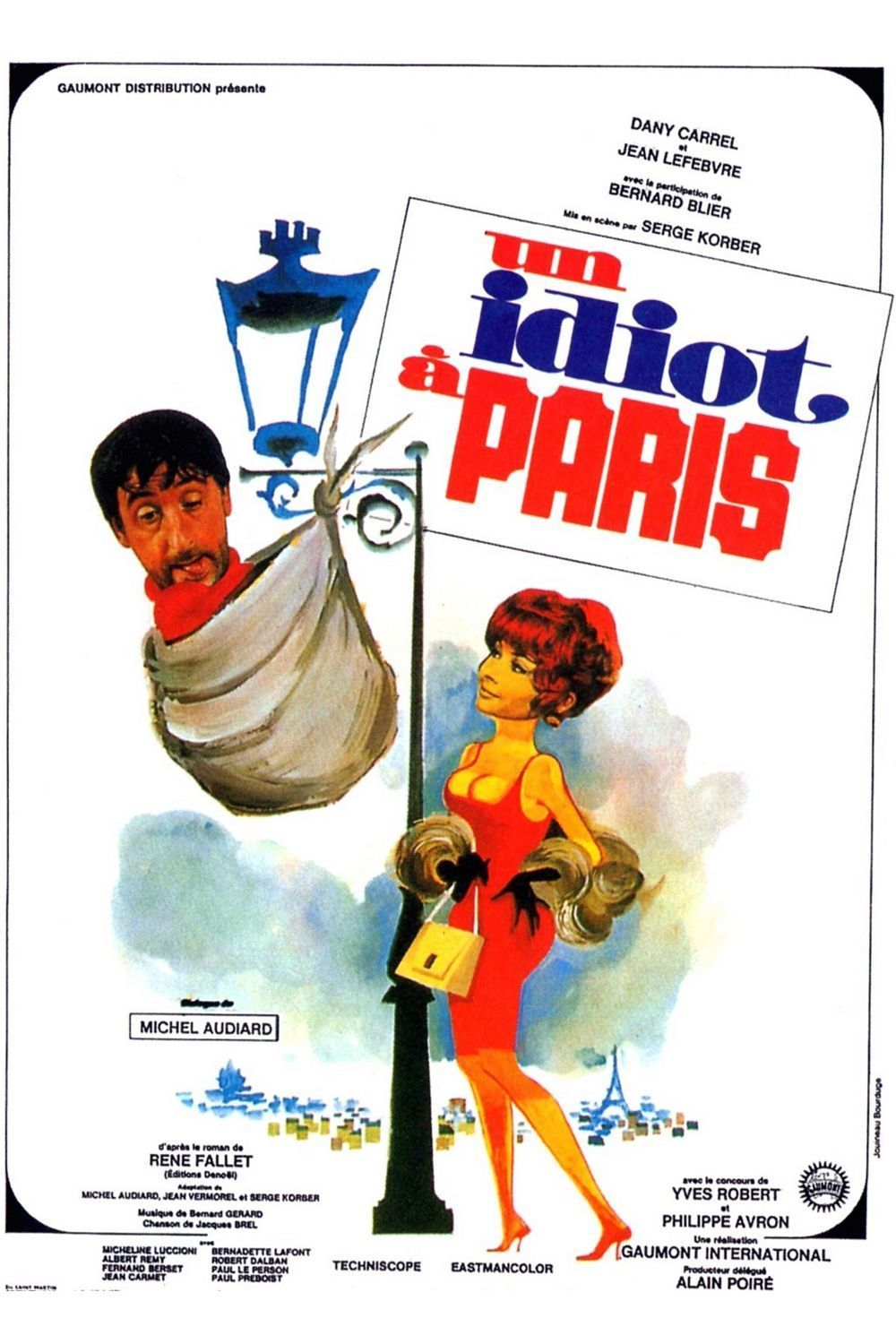 affiche du film Un idiot à Paris