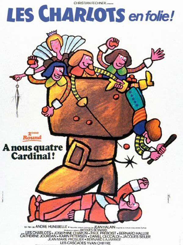 affiche du film Les Charlots en folie : À nous quatre Cardinal !