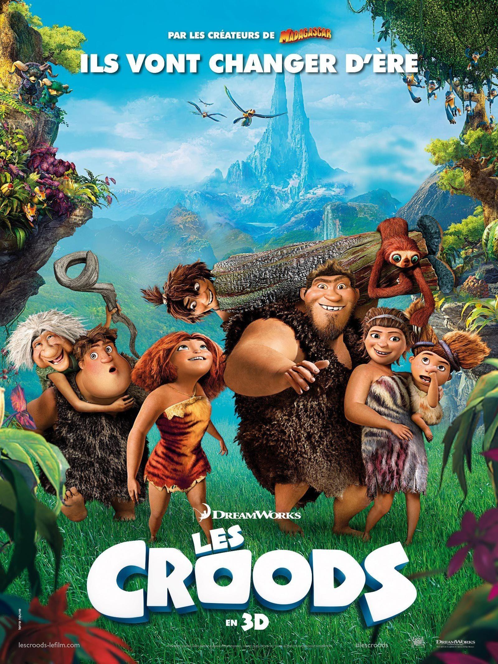 affiche du film Les Croods
