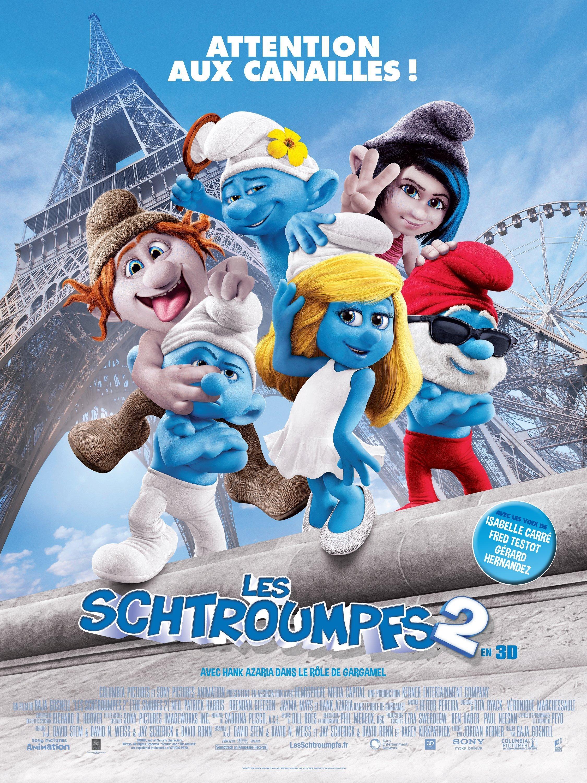 affiche du film Les Schtroumpfs 2