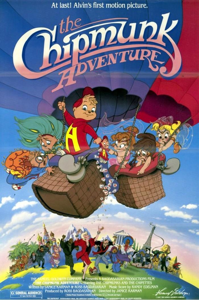 affiche du film Les aventures des Chipmunks