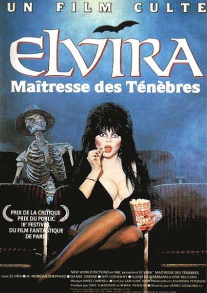 affiche du film Elvira, Maîtresse des Ténèbres