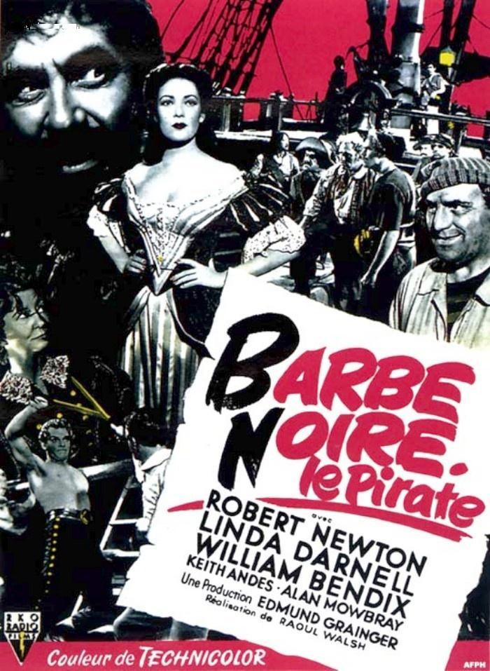 affiche du film Barbe-Noire le pirate