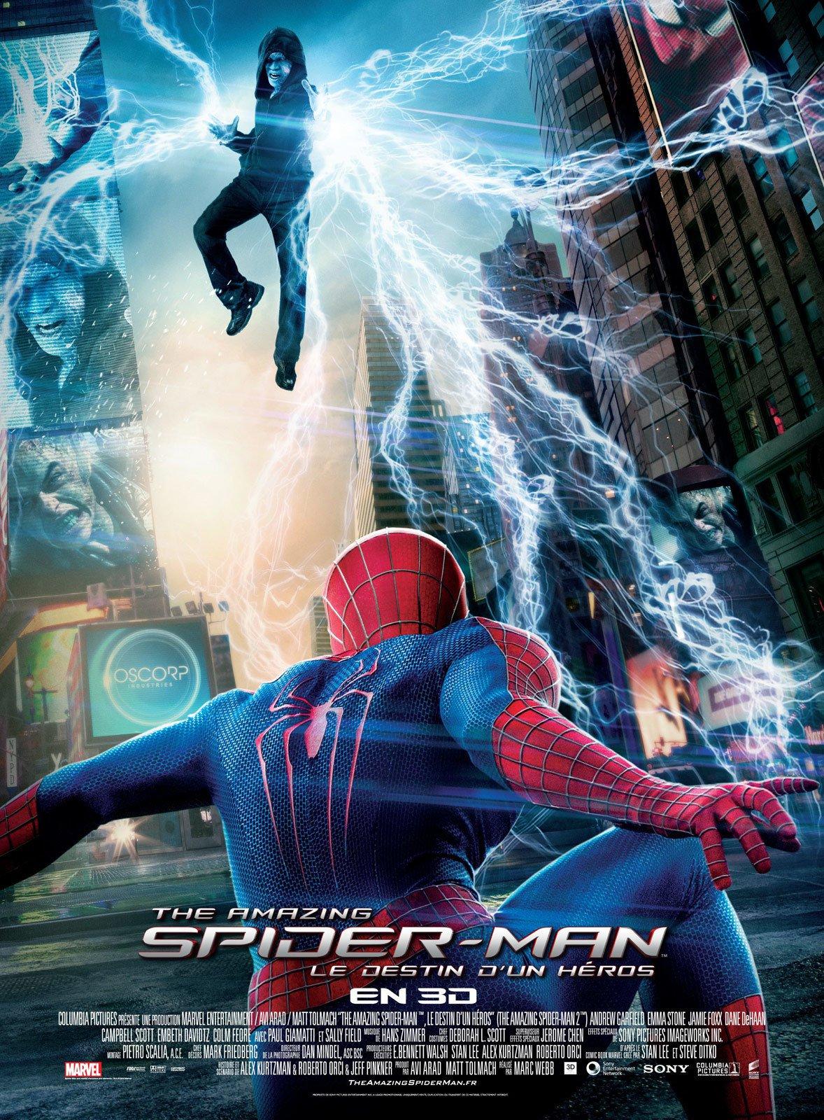 affiche du film The Amazing Spider-Man : Le destin d'un héros