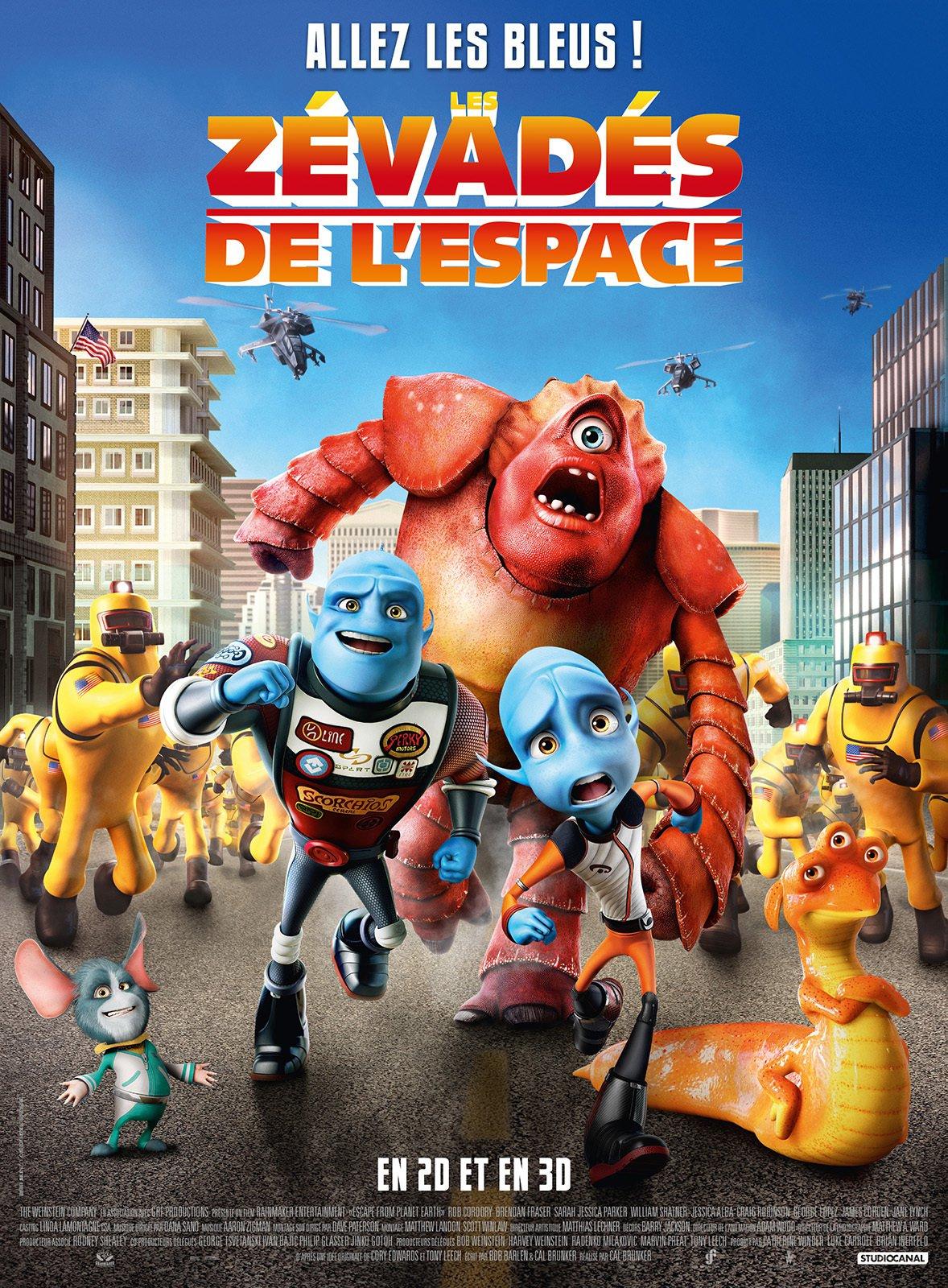 affiche du film Les zévadés de l'espace