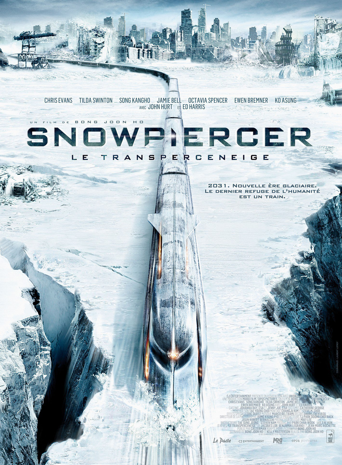 affiche du film Snowpiercer, le Transperceneige