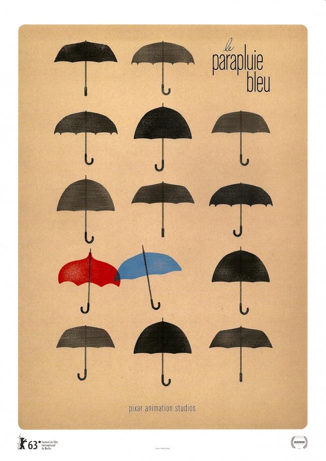 affiche du film Le parapluie bleu