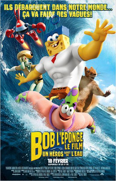 affiche du film Bob l'éponge, le film : Un héros sort de l'eau