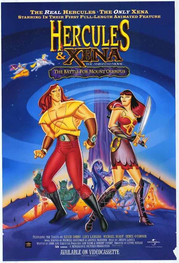 affiche du film Hercule et Xena : La bataille du Mont Olympe
