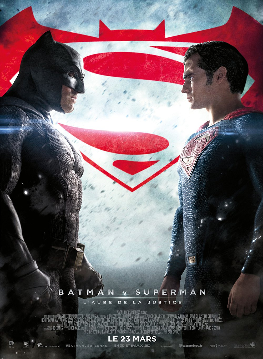 affiche du film Batman vs Superman : L'Aube de la Justice