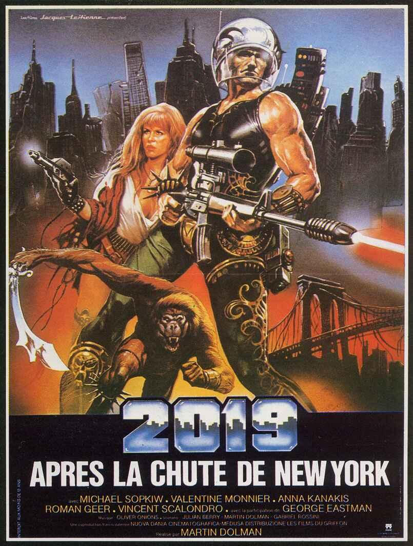 affiche du film 2019 après la chute de New York