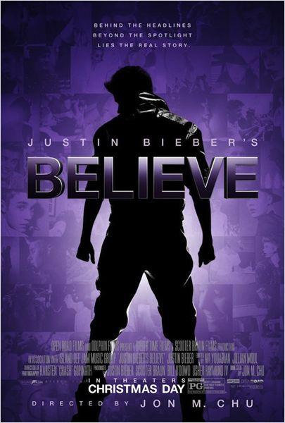 affiche du film Justin Bieber's Believe