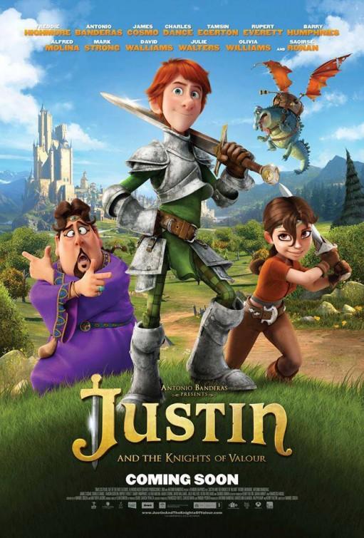 affiche du film Justin et la Légende des chevaliers