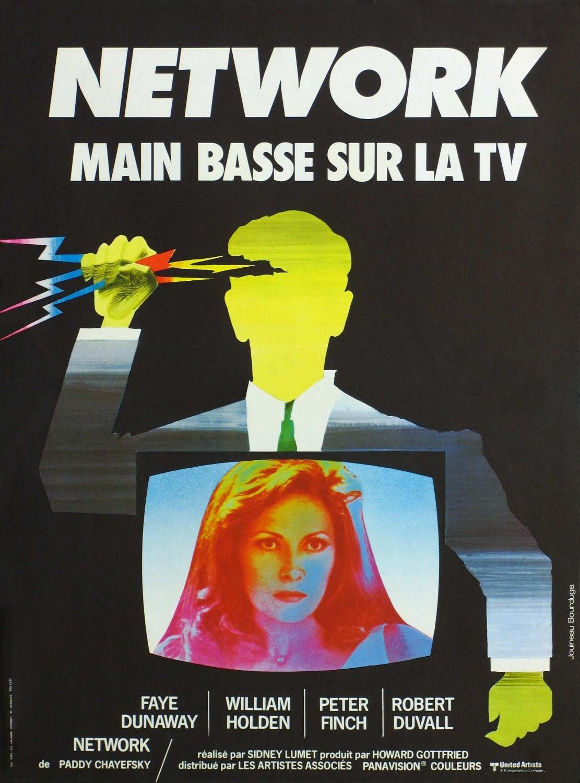 affiche du film Network : Main basse sur la TV