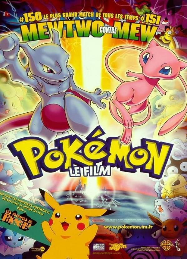 affiche du film Pokemon, le film : Mewtwo contre-attaque