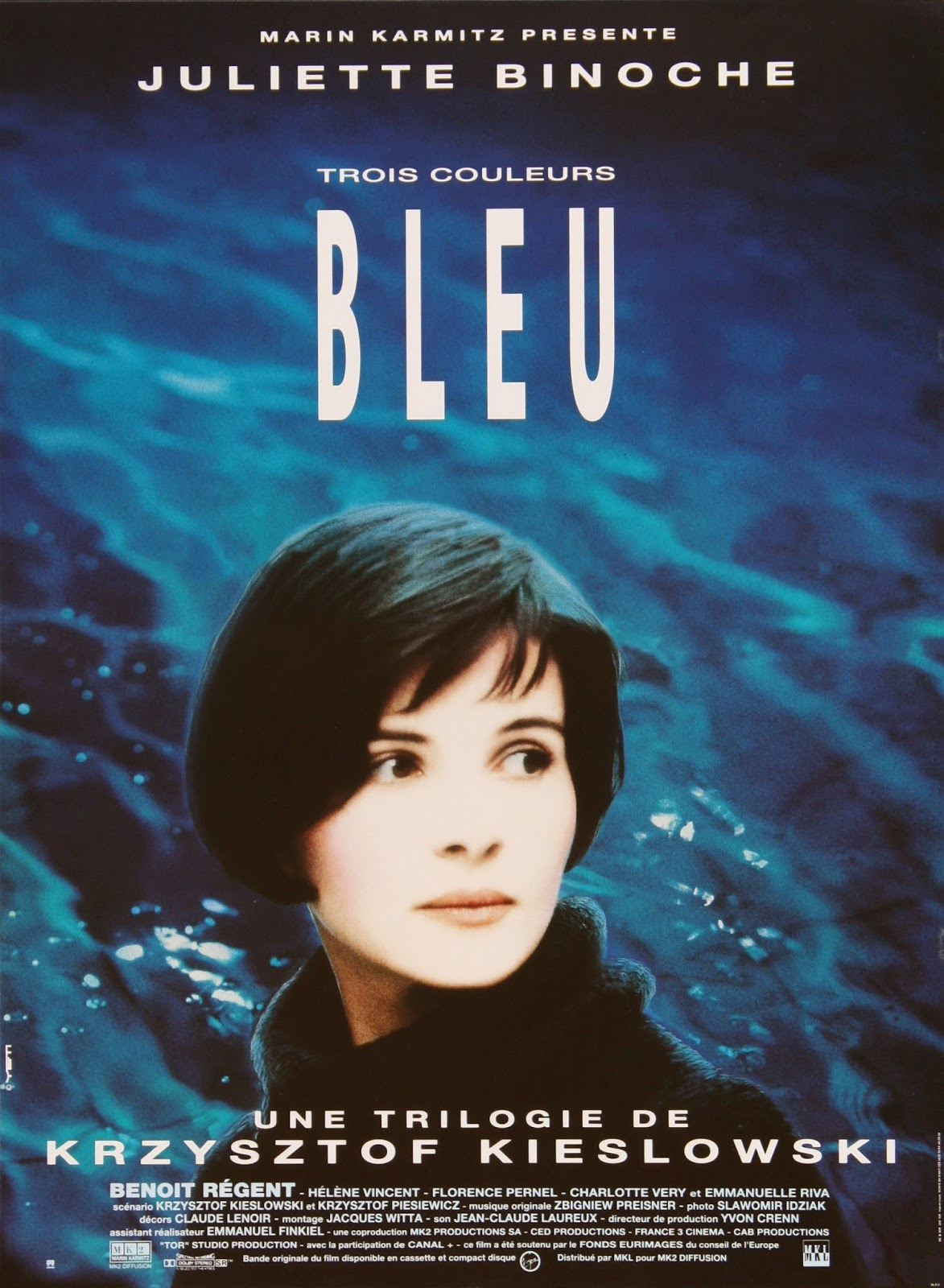 affiche du film Trois couleurs: Bleu