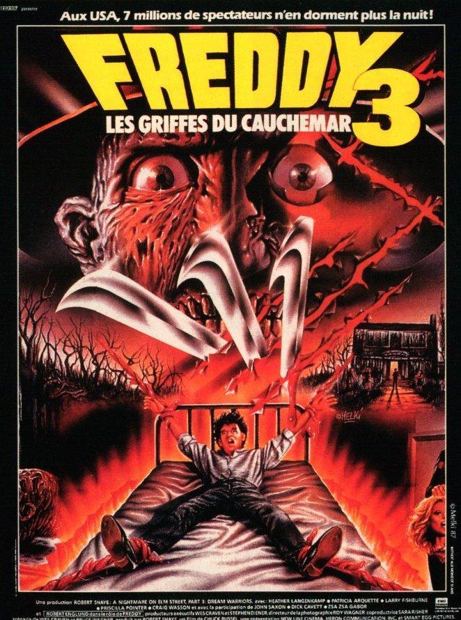 affiche du film Freddy 3: Les griffes du cauchemar