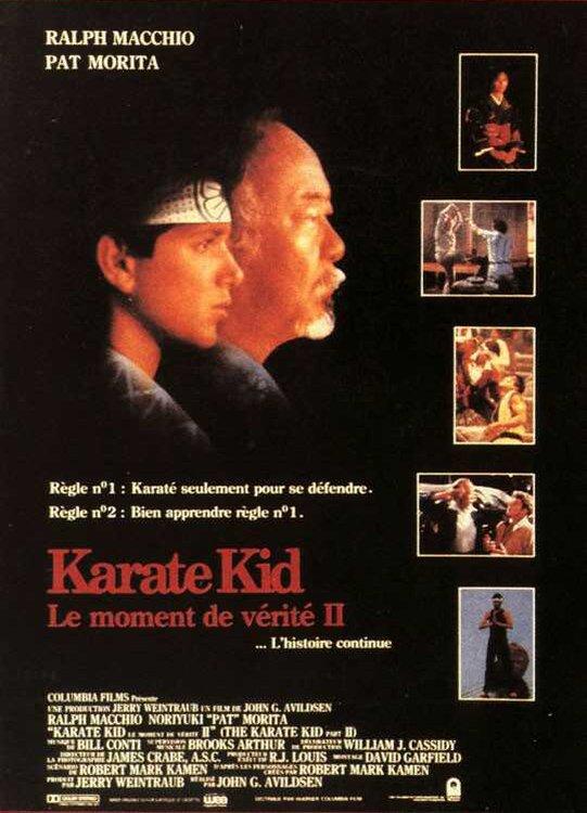affiche du film Karate kid, le moment de vérité II