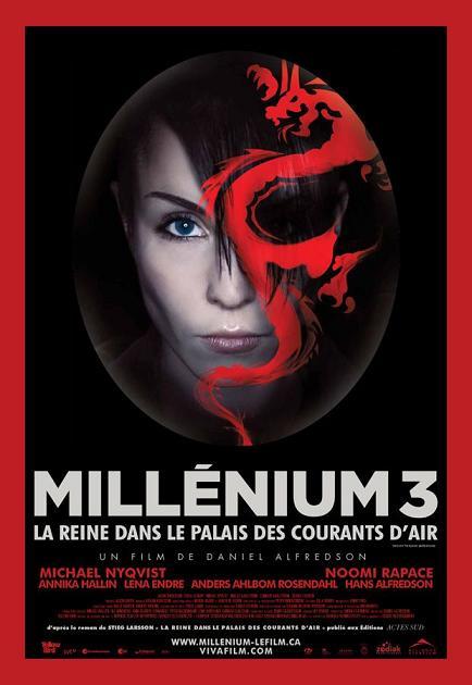 affiche du film Millénium 3, la reine dans le palais des courants d'air