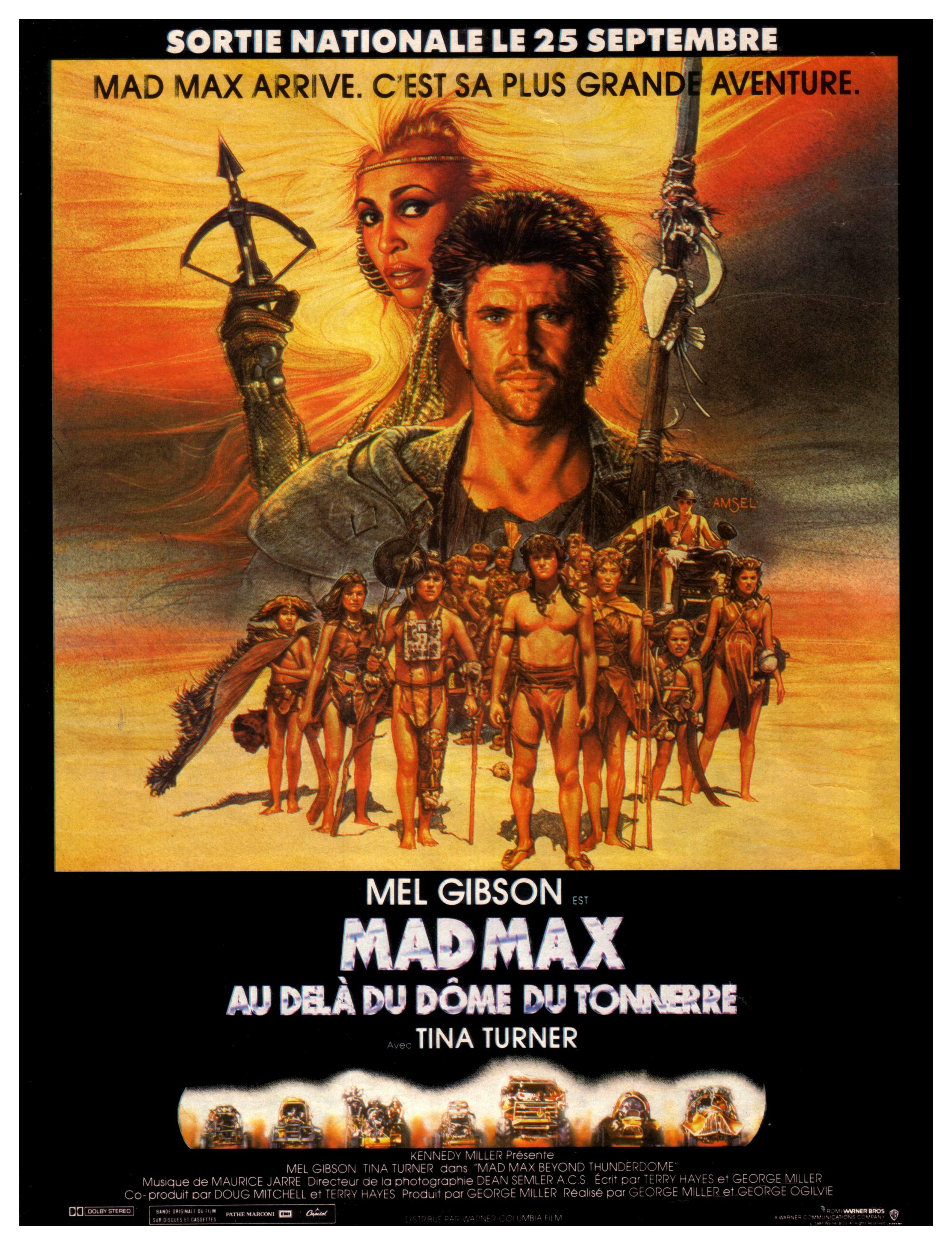 affiche du film Mad Max 3 : Au-delà du dôme du tonnerre