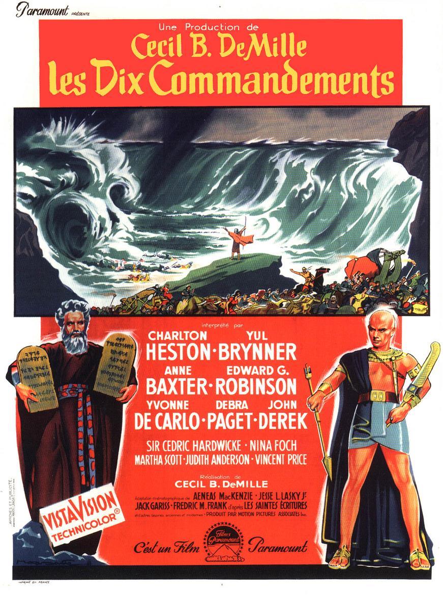 affiche du film Les dix commandements
