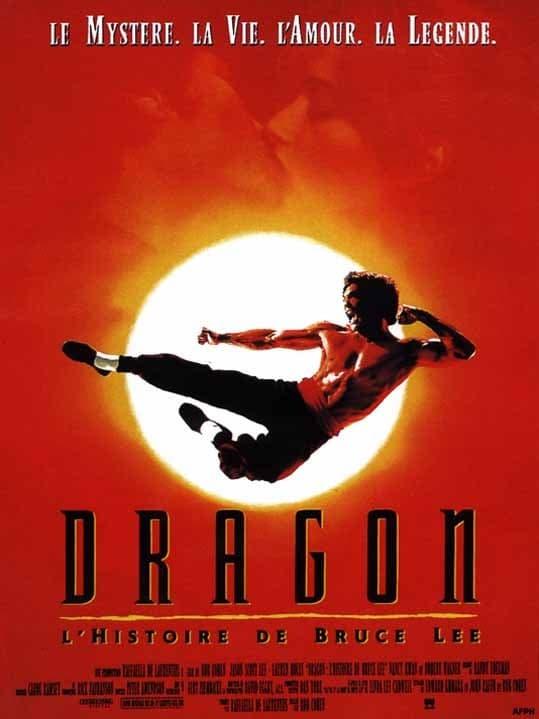 affiche du film Dragon, l'histoire de Bruce Lee
